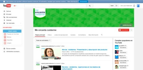Me encanta Cuidarme Youtube