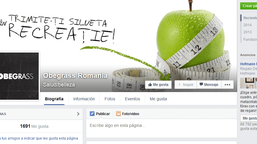 Obegrass Facebook Rumania